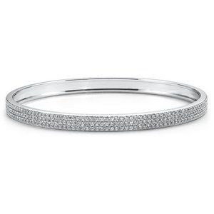 8.50 Ct round brilliant cut Diamonds bangle
